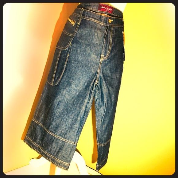 770cecb838a Baby Phat Pants - Baby Phat Denim Gaucho Pants Size 16